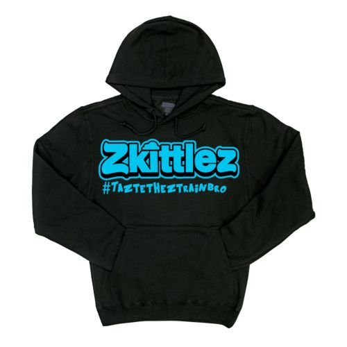 Official Zkittlez Taste The Z Train Teal Hoodie
