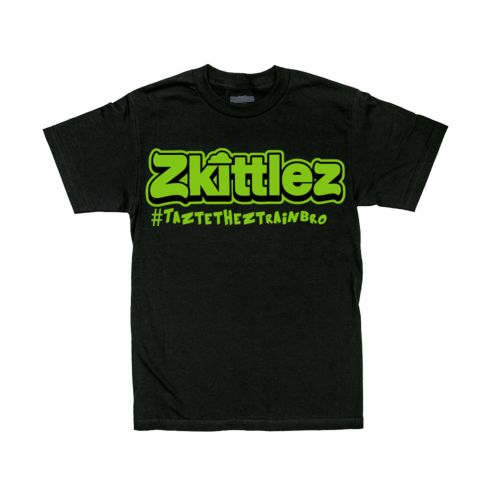 Official Zkittlez Taste The Z Train Neon Green T-Shirt