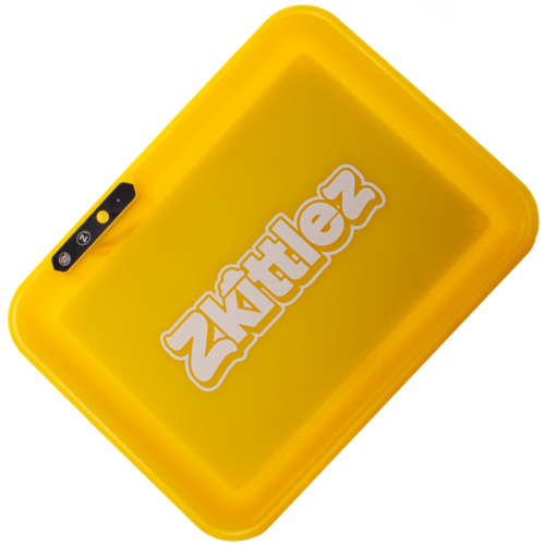 Zkittlez (Yellow) LED Glow Rolling Tray by Glow Tray