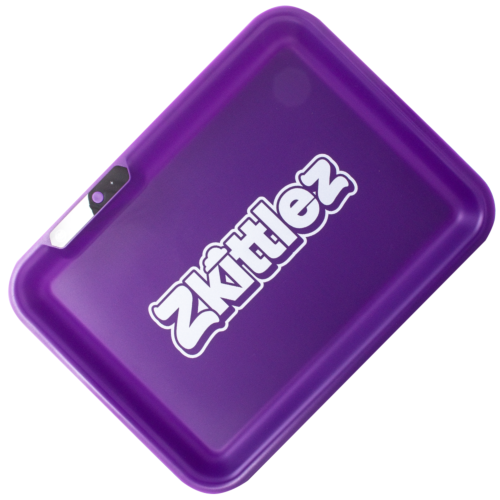 Zkittlez (Purple) LED Glow Rolling Tray by Glow Tray