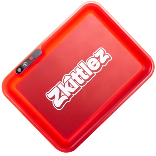 Zkittlez (Red) LED Glow Rolling Tray by Glow Tray