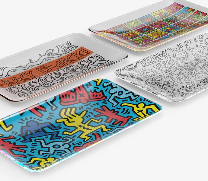 Keith Haring Glass Ashtrays Wholesale